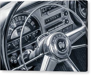 Pontiac Chieftain Dash And Steering Wheel Canvas Print by Jim Hughes