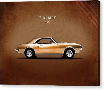 Pontiac Firebird 400 1967 Canvas Print by Mark Rogan