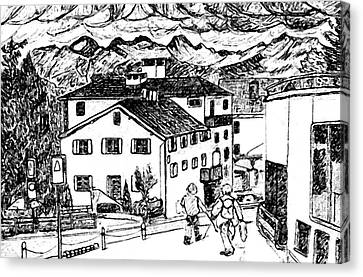 Pontresina Switzerland Canvas Print by Monica Engeler