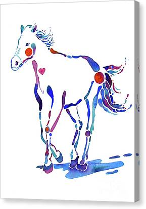 Pony Canter With Love Canvas Print by Jo Lynch