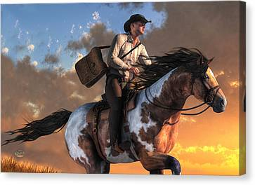 Pony Express Canvas Print by Daniel Eskridge