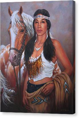 Pony Maiden Canvas Print by Harvie Brown