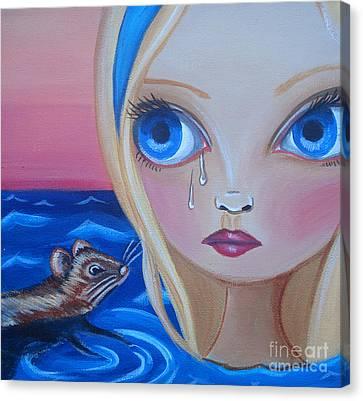 Pool Of Tears Canvas Print by Jaz Higgins