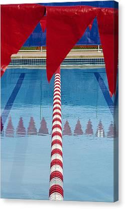 Pool Canvas Print by Skip Hunt