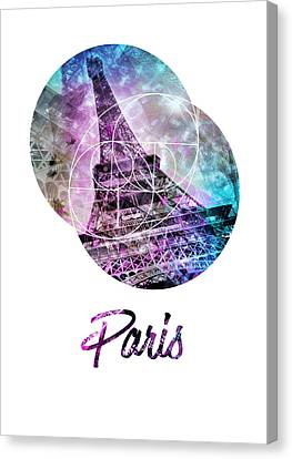 Pop Art Eiffel Tower Graphic Style Canvas Print by Melanie Viola