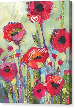 Poppies No 5 Canvas Print by Shelli Walters