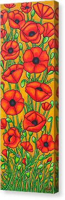 Poppies Under The Tuscan Sun Canvas Print by Lisa  Lorenz