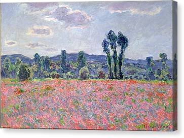 Poppy Field Canvas Print by Claude Monet