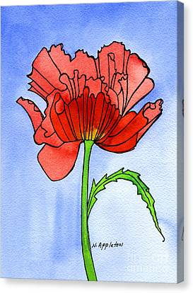 Poppy Canvas Print by Norma Appleton