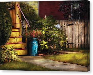 Porch - Summer Retreat Canvas Print by Mike Savad