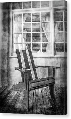 Porch Chair Canvas Print by Debra and Dave Vanderlaan