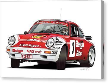 Porsche 911 Sc Rs Belga Team Canvas Print by Alain Jamar