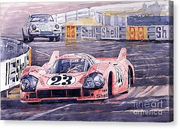 Porsche 917-20 Pink Pig Le Mans 1971 Joest Reinhold Canvas Print by Yuriy  Shevchuk