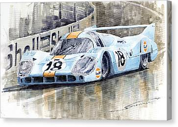 Porsche 917 Lh 24 Le Mans 1971 Rodriguez Oliver Canvas Print by Yuriy  Shevchuk