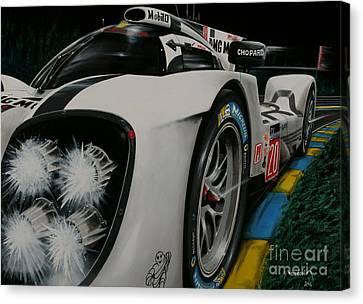 Porsche 919 2014 - Night Canvas Print by Alain Baudouin