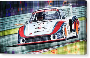 Porsche 935 Coupe Moby Dick Martini Racing Team Canvas Print by Yuriy  Shevchuk