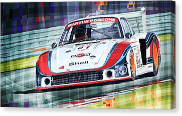 Porsche 935 Coupe Moby Dick Martini Racing Team Canvas Print by Yuriy  Shevchuk