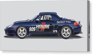 Porsche Boxster Racer Image Canvas Print by Alain Jamar