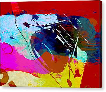 Porsche Watercolor Canvas Print by Naxart Studio