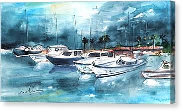 Port Alcudia Harbour 01 Canvas Print by Miki De Goodaboom