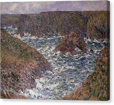 Port Domois At Belle Ile Canvas Print by Claude Monet