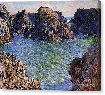 Port Goulphar Belle Ile Brittany Canvas Print by Claude Monet