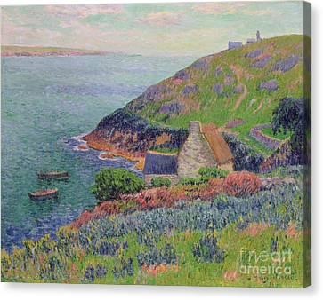 Port Manech Canvas Print by Henry Moret
