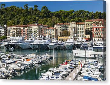 Port Of Nice Canvas Print by Elena Elisseeva