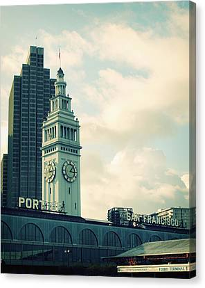 Port Of San Francisco Canvas Print by Linda Woods