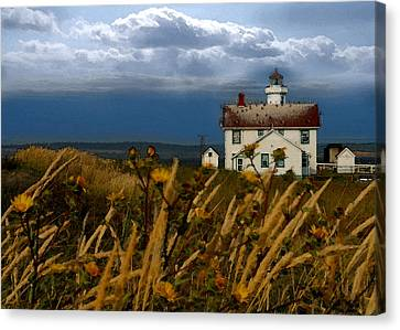 Port Townsend Light House Wa Canvas Print by Joseph G Holland