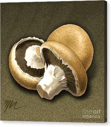 Portabello Mushrooms Canvas Print by Marshall Robinson