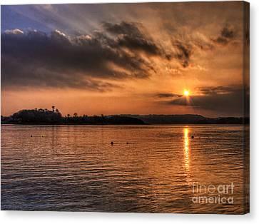 Portaferry Sunset Canvas Print by Kim Shatwell-Irishphotographer