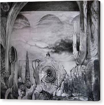 Portal To Bogomils Universe Iv Canvas Print by Otto Rapp