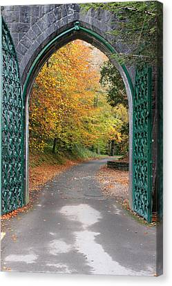 Portal To The Colorful Autumn Season Canvas Print by Pierre Leclerc Photography