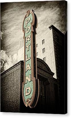Portland Marquis Canvas Print by Danielle Denham