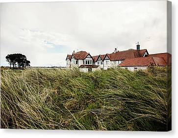 Portmarnock Clubhouse Canvas Print by Scott Pellegrin