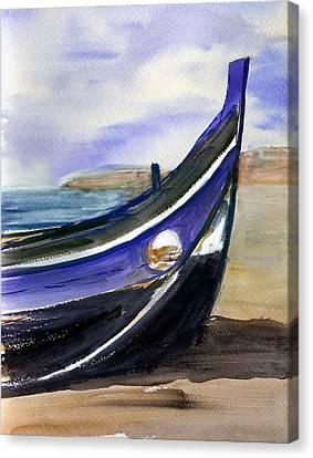 Portoboat Canvas Print by Anselmo Albert Torres