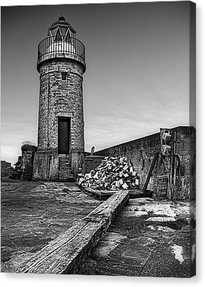 Portpatrick Lighthouse Canvas Print by Tim Haynes