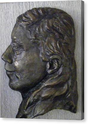 Portrait In Bronze Canvas Print by Willoughby Senior