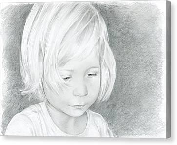 Portrait Of A Child 2 Canvas Print by Bitten Kari