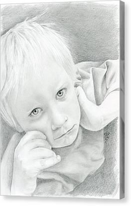 Portrait Of A Child Canvas Print by Bitten Kari