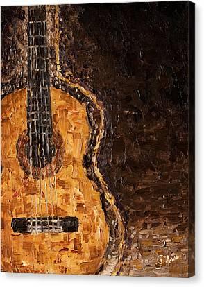 Portrait Of A Guitar Canvas Print by Carlos Flores