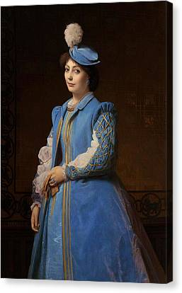 Portrait Of A Lady Canvas Print by Charles Francois