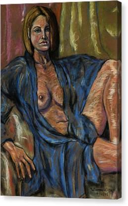 Portrait Of A Lady Canvas Print by Dan Earle