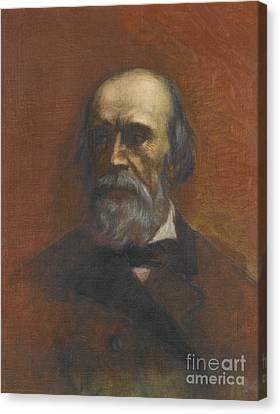 Portrait Of A Man Said To Be Walerjan Canvas Print by Henryk Siemiradzki