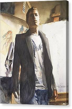 Portrait Of A Prodigy Canvas Print by Douglas Trowbridge