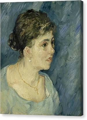 Portrait Of A Prostitute Canvas Print by Vincent van Gogh