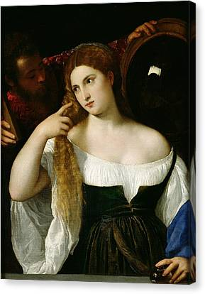 Portrait Of A Woman At Her Toilet Canvas Print by Titian