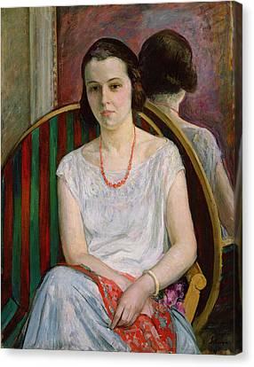 Portrait Of A Woman Canvas Print by Henri Lebasque