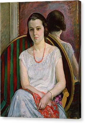 Portrait Of A Woman Canvas Print by Henri Lebasque